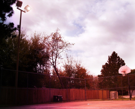 Basketball court by Del Lakin-Smith