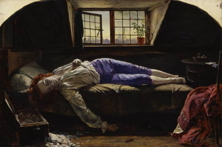 Henry Wallis, 'The Death of Chatterton' 1856
